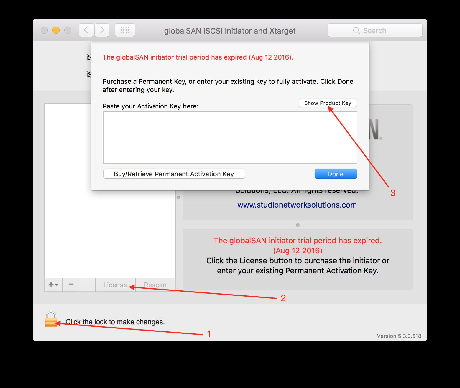My activation key no longer works – Studio Network Solutions KB